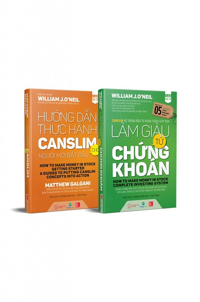 Bộ sách Làm Giàu Từ Chứng Khoán phiên bản mới + Hướng Dẫn Thực Hành CANSLIM Cho Người Mới Bắt Đầu