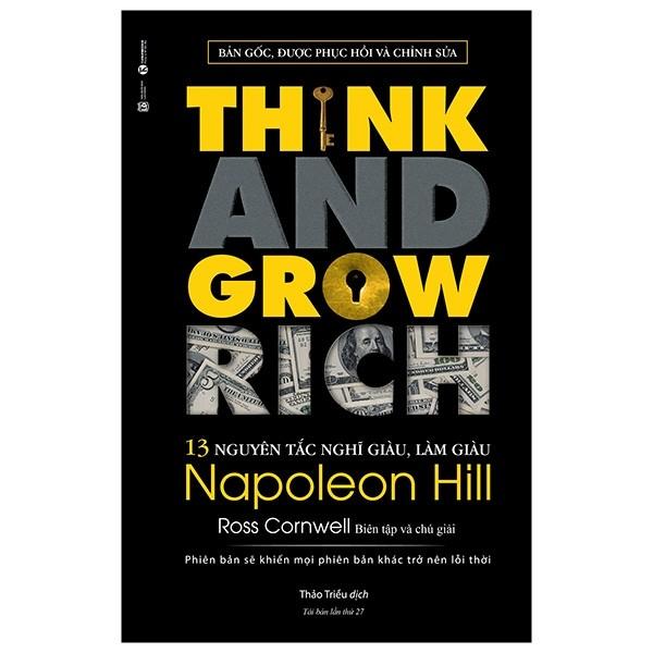 Sách - 13 nguyên tắc nghĩ giàu, làm giàu – Napoleon Hill